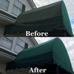awning cleaning before and after