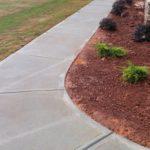 walkway cleaned
